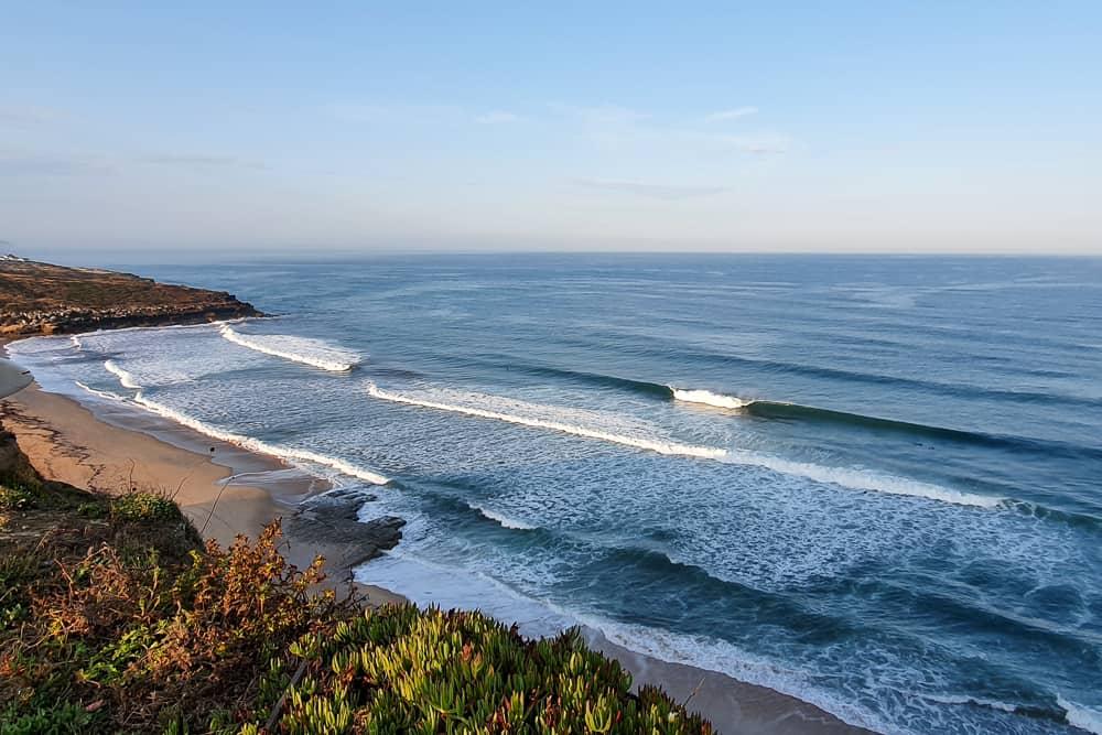 Few surfers enjoying perfect conditions at Foz do Lizandro