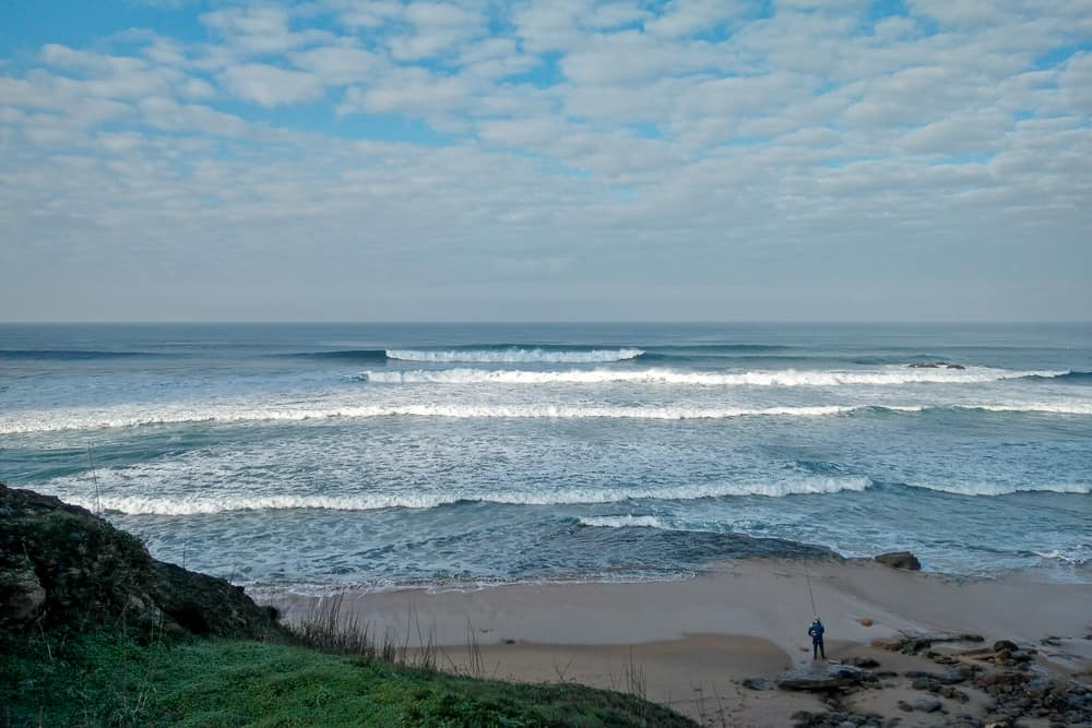 Early morning conditions at the surf spot Matadouro
