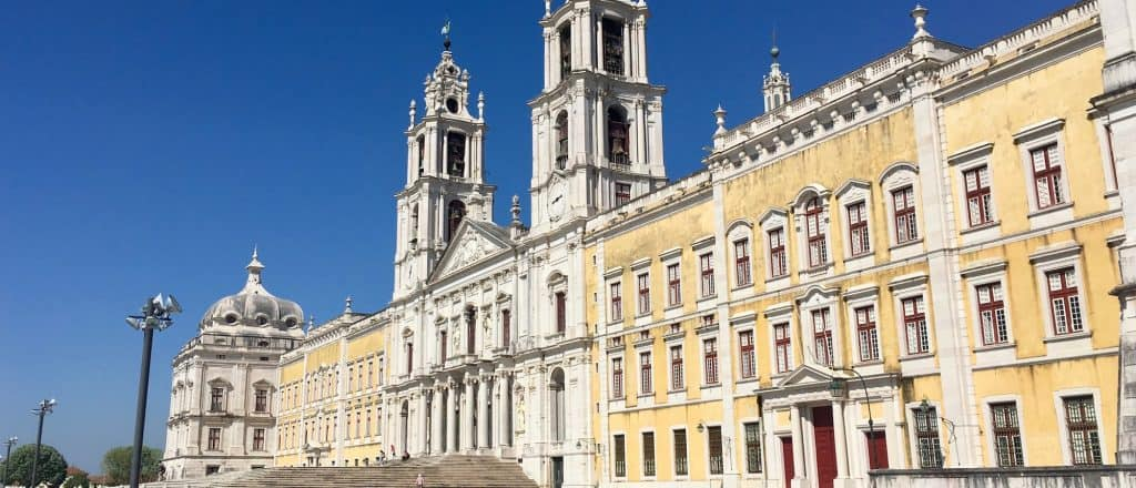 Front view of the Palace of Mafra