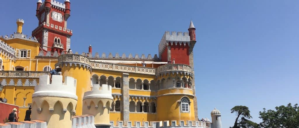 Details of the amazing Pena Palace in Sintra