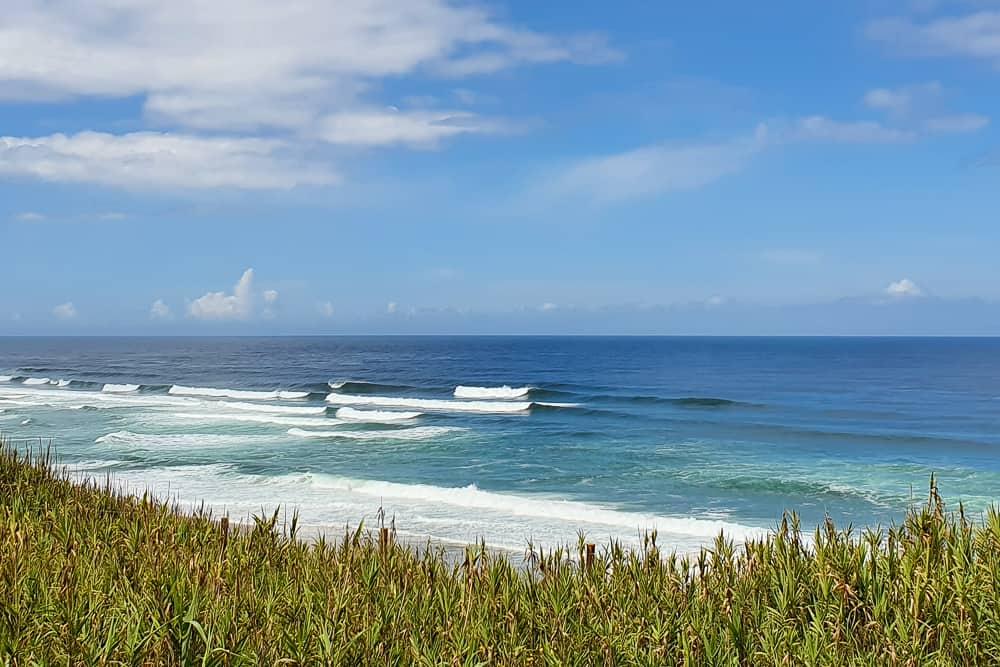 Waves breaking in Praia Grande - Sintra