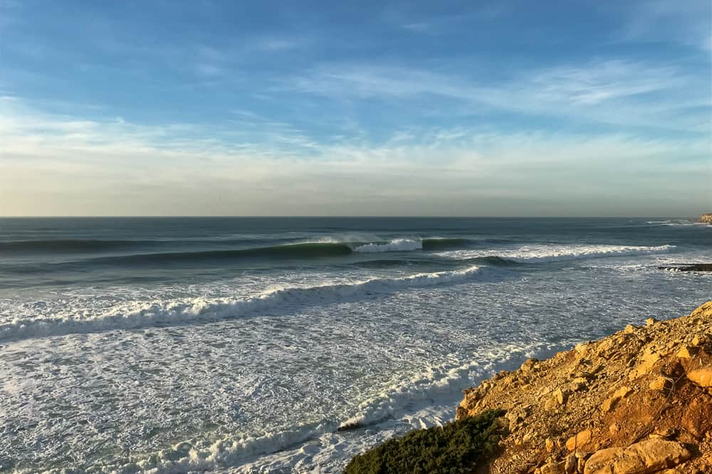 The surf spot Reef in Ericeira offering great righthand tubes