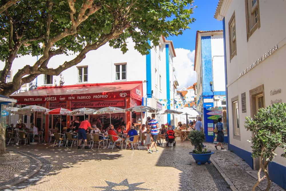Ericeira central square in the village