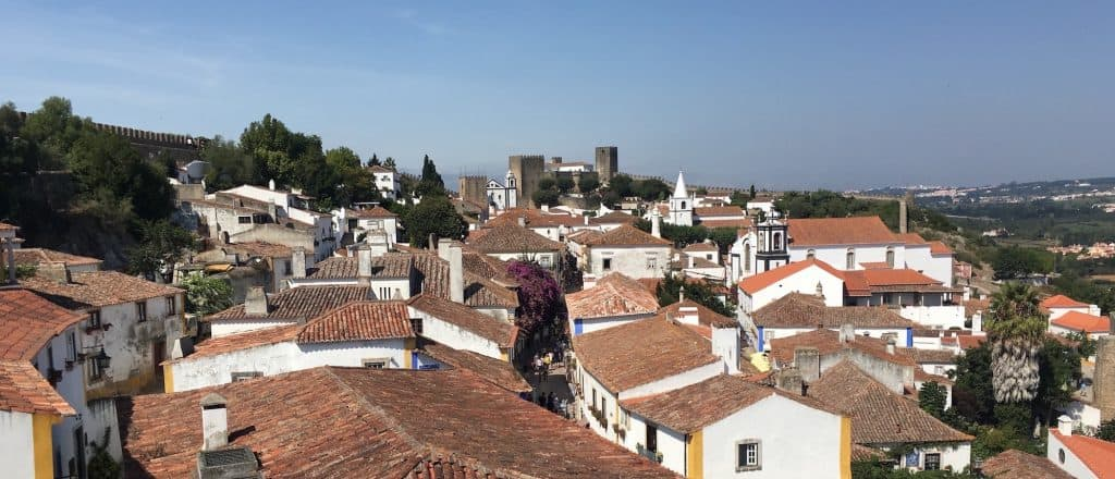 The medieval village of Óbidos with its cozy streets