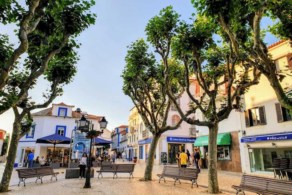 The central square in Ericeira called Jogo da Bola