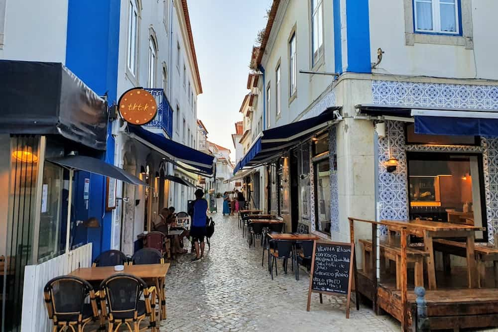 Typical Portuguese restaurants in the center of Ericeira