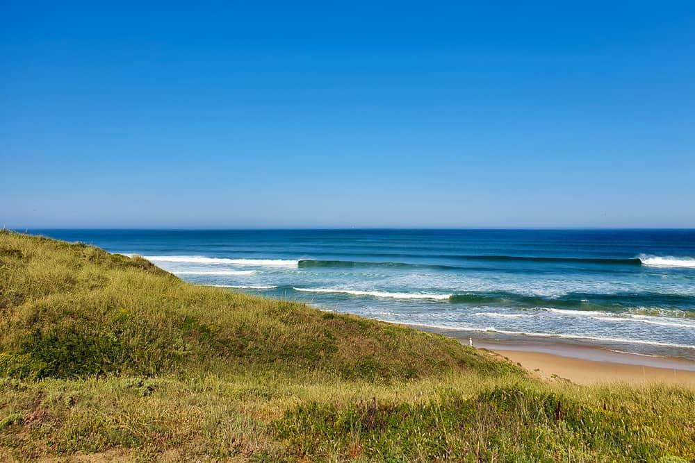 A beautiful day at the surf spot Praia da Areia Branca