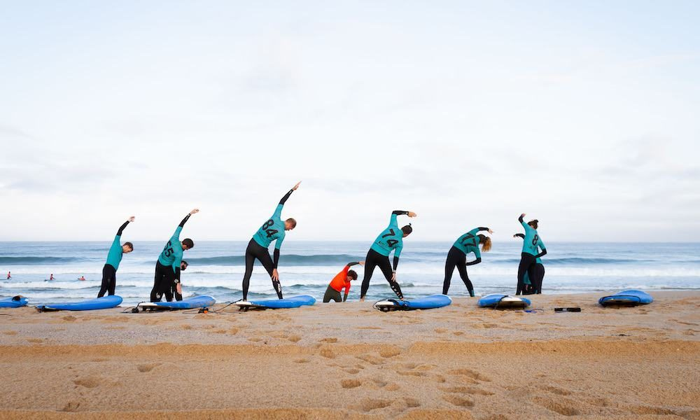 Beginner surf lessons at Foz do Lizandro