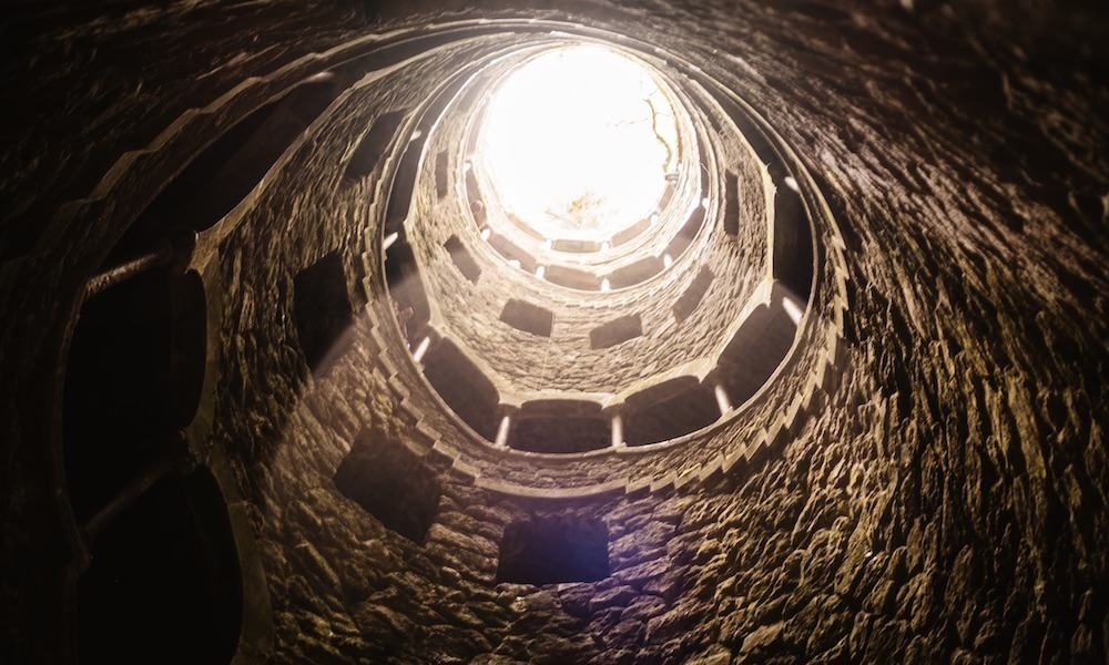 The Initiation Well at Quinta da Regaleira in Sintra