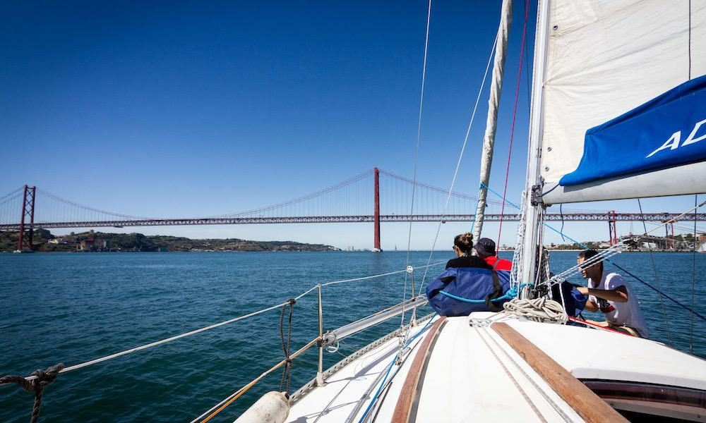 Sailing on the Tagus river in Lisbon is simply amazing
